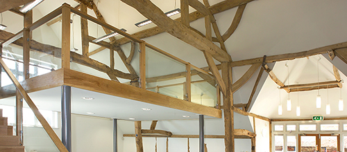 Lighting design, Barn conversion to commercial workspace