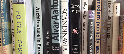 Studio book spines…