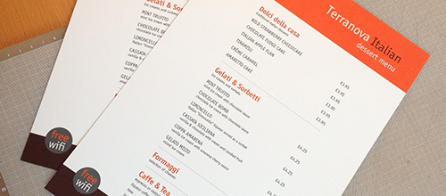Menu design and print…