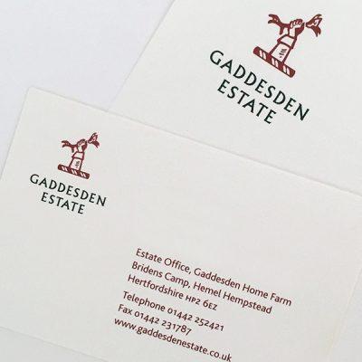 Gaddesden Estate branded stationery