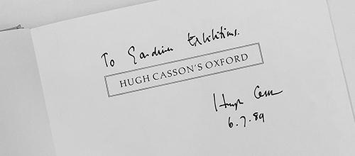 Meeting Hugh Casson
