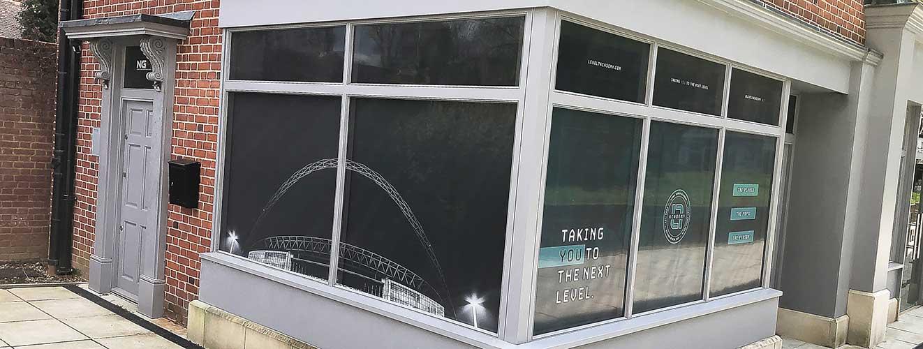 One way film window graphics