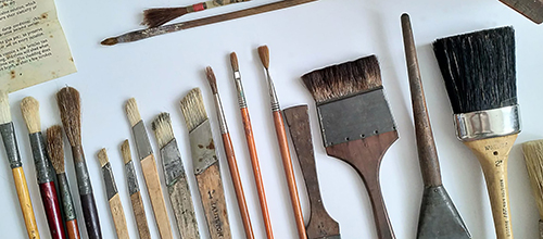 Signwriter brushes and tools